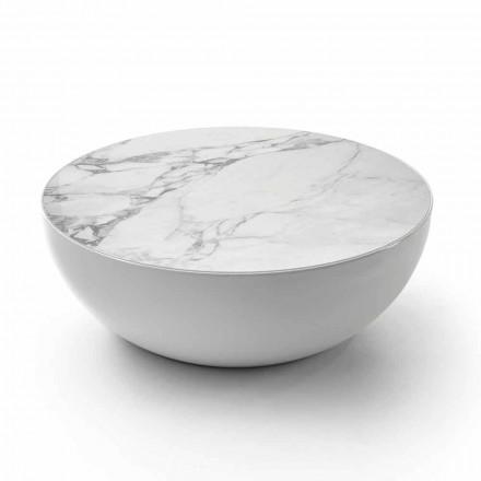Bonaldo Planet stolik kawowy design z ceramiki Calacatta made in Italy