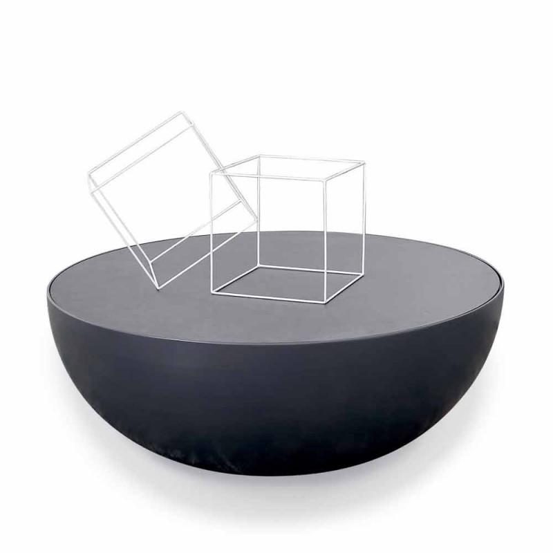 Stolik kawowy Bonaldo Planet wykonany ze szkła trawionego wyprodukowanego we Włoszech