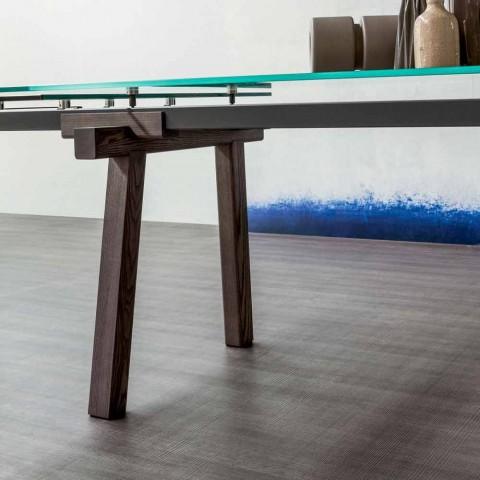 Bonaldo Tracks rozkładany kryształowy stół wykonany we Włoszech