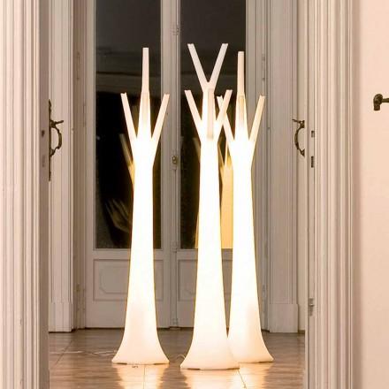 Wieszak Bonaldo Tree z lampką z polietylenu wyprodukowany we Włoszech