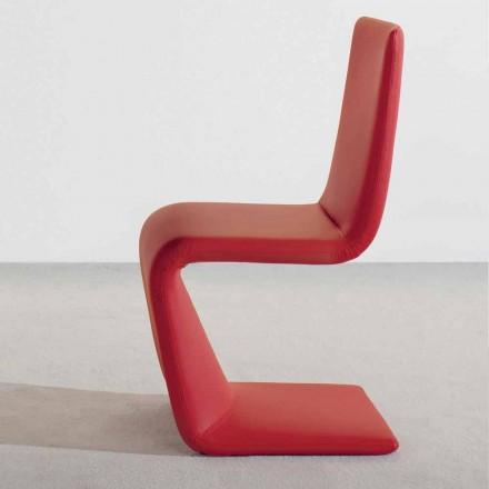 Nowoczesne krzesło designerskie Bonaldo Venere, tapicerowane skórą wyprodukowaną we Włoszech