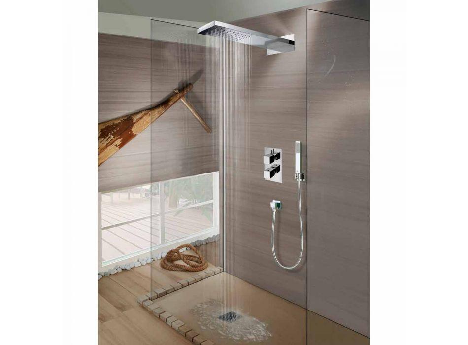 Bossini Manhattan głowica prysznicowa ze stali nierdzewnej z prysznicem, deszczem