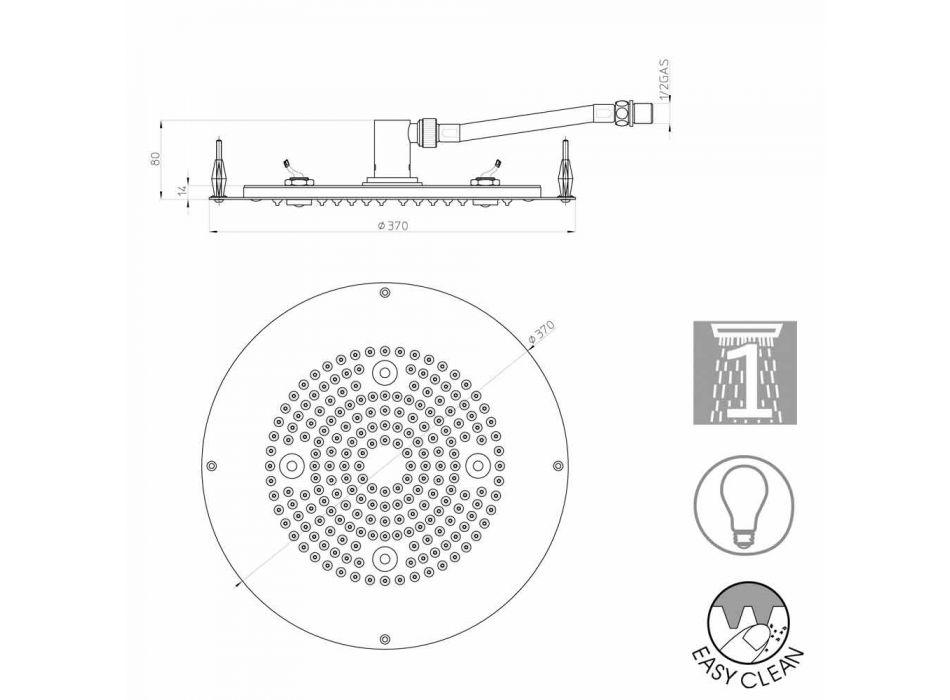 Bossini głowica prysznicowa okrągła do nowoczesnego odrzutowca z diodami LED
