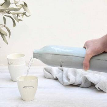 Butelki z białej i szarej porcelany w luksusowym stylu. 2 unikalne elementy - Arcivero