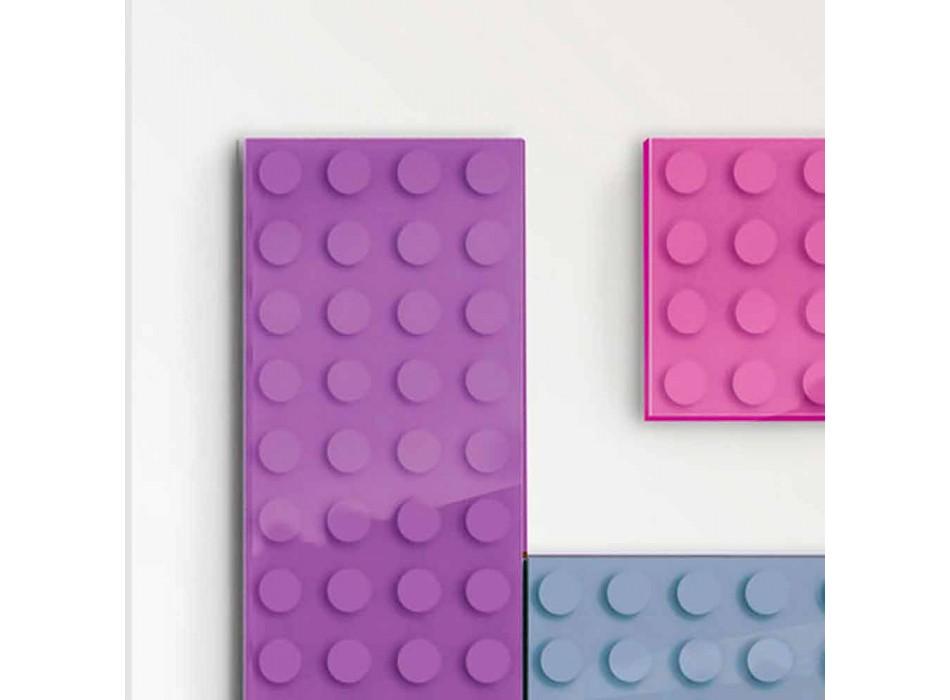 Grzejnik klocka Lego hydrauliczny konstrukcja wykonana we Włoszech przez Scirocco H