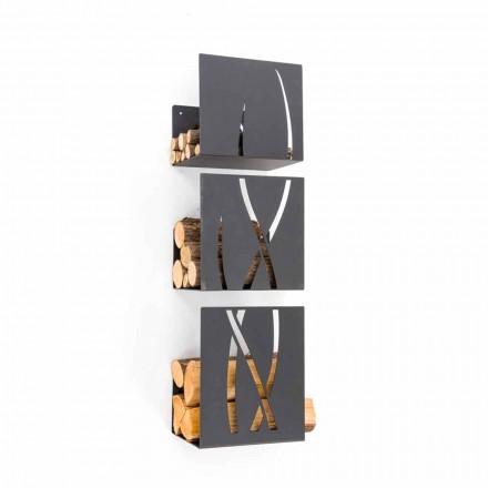 Caf Design Trio kosz na drewno ścienny, nowoczesny design