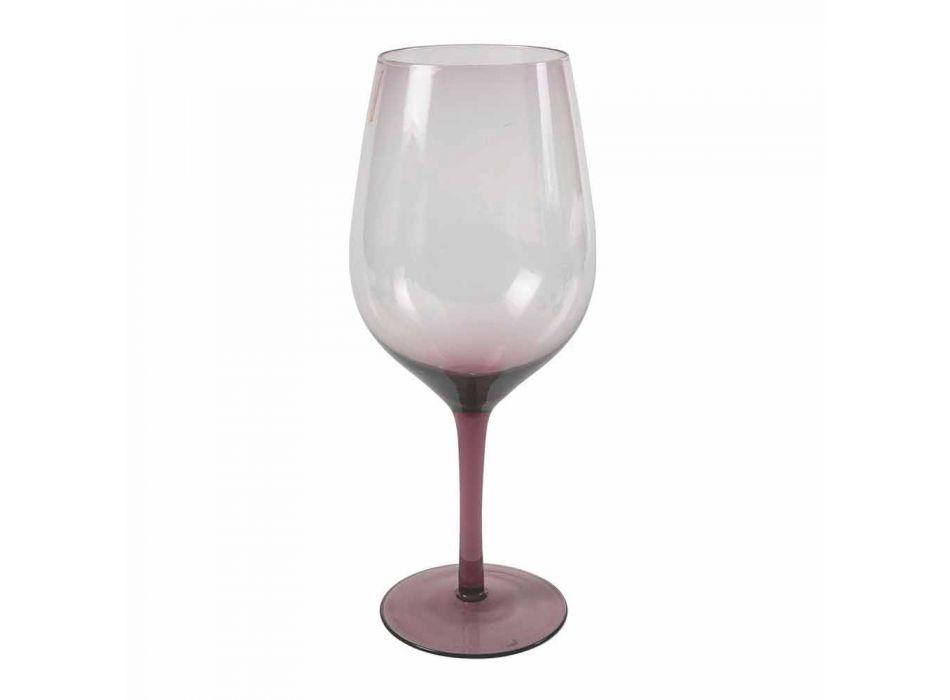 Białe lub czerwone kolorowe kieliszki do wina w szkle 3 warianty 12 sztuk - Aperi