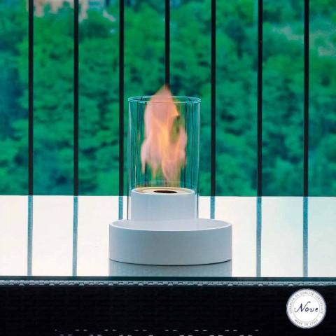 ceramiczny kominek i stół szkło bioetanol Jim, wykonane we Włoszech