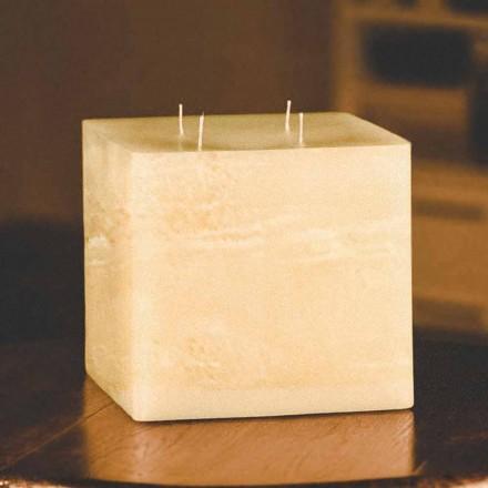 Kwadratowa, ręcznie robiona, nowoczesna świeca woskowa Made in Italy - Mondeo