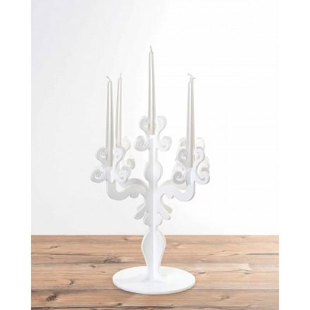 Wysoki świecznik w stylu renesansowym, 5 ramion w pleksi, Aragona