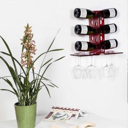 Pojemnik na butelkę czerwonego wina Luna, nowoczesny design