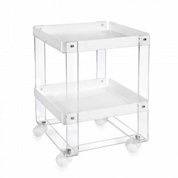 Wózek do serwowania, z dwiema półkami, w pleksi Diso