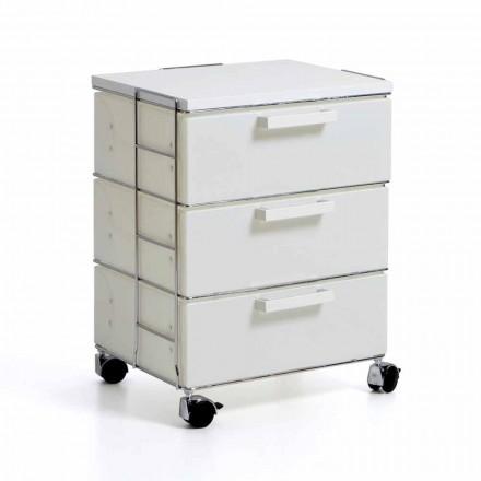 Komoda 3 szufladowa biała z mdf model Valerie
