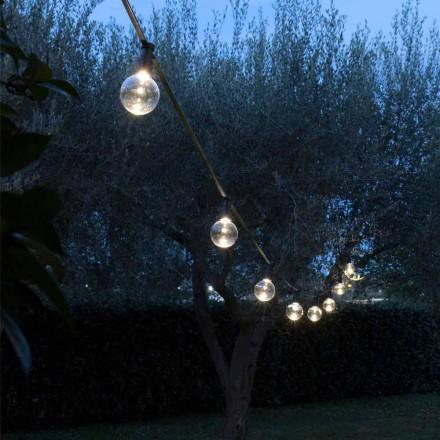 Neoprenowy kabel zewnętrzny z 8 żarówkami LED w zestawie Made in Italy - Party