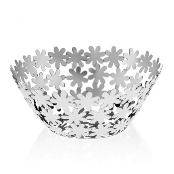 Centralny projekt w srebrnym metalu i luksusowych dekoracjach kwiatowych - Terraceo