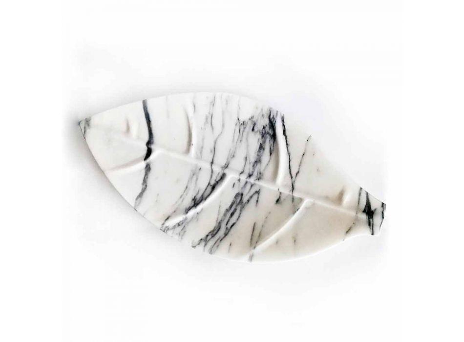 Centralny element z marmuru Arabescato w kształcie liścia Made in Italy - Treviso