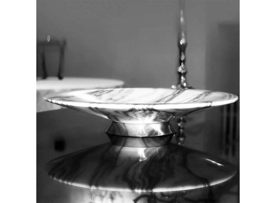 Centralny element z marmuru i metalu Brezza della Versilia Made in Italy - Amabile
