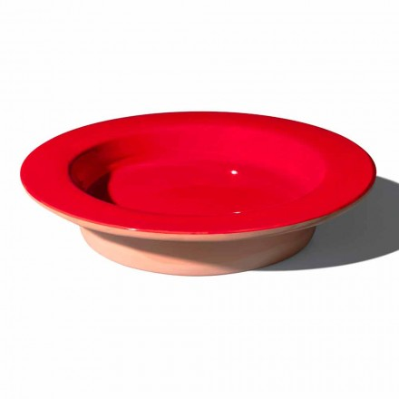 Okrągły element centralny z terakoty i szkliwionej ceramiki Made in Italy - Brooke