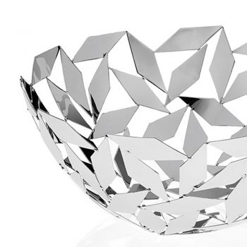 Centralny element projektu półkuli w srebrnych metalowych dekoracjach geometrycznych - Torresi