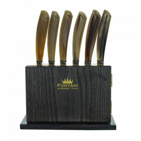 Blok magnetyczny z 12 sztuk drewna oliwnego i kasztanowca Made in Italy - Block