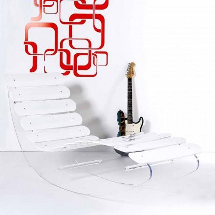 Designerski szezlong w przezroczystym pleksi Josue wykonany we Włoszech