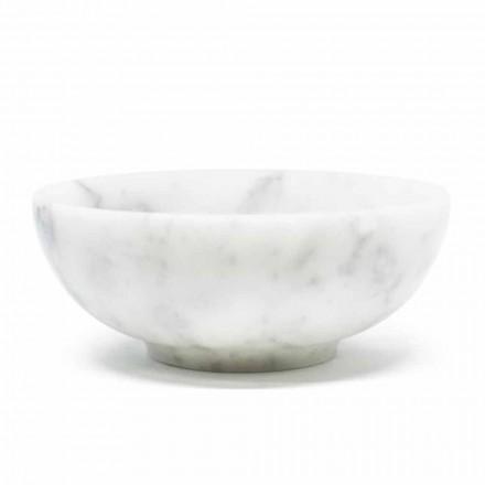 Okrągła miska z satynowego białego marmuru Carrara Made in Italy - Delly