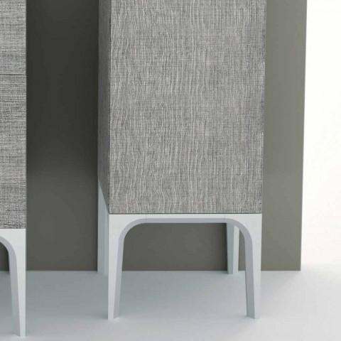 Amanda 2-drzwiowa kolumna łazienkowa wykonana w nowoczesnym stylu z eko-skóry, wyprodukowana we Włoszech