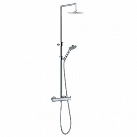 Kolumna prysznicowa ze zintegrowanym przełącznikiem z chromowanego mosiądzu Made in Italy - Griso
