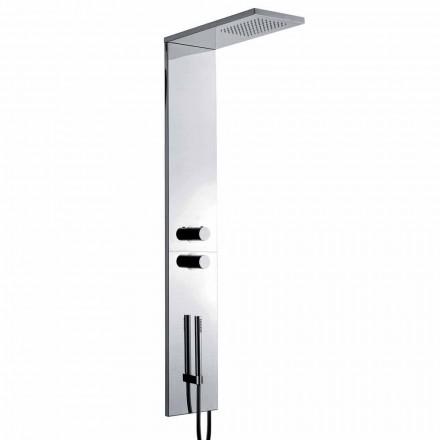 Termostatyczna kolumna prysznicowa z chromowanej stali nierdzewnej Wyprodukowano we Włoszech - Pampo