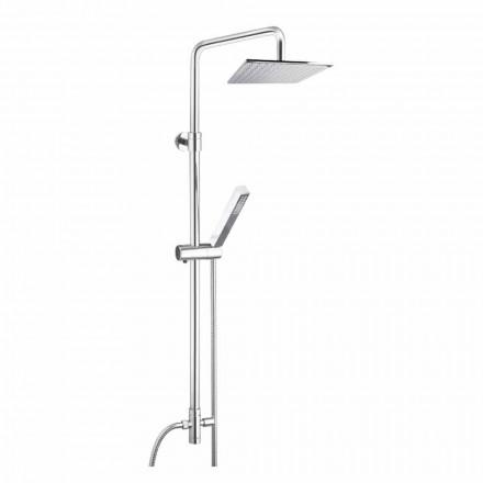 Kolumna prysznicowa z mosiądzu z głowicą prysznicową i główką prysznicową z ABS Made in Italy - Lesio