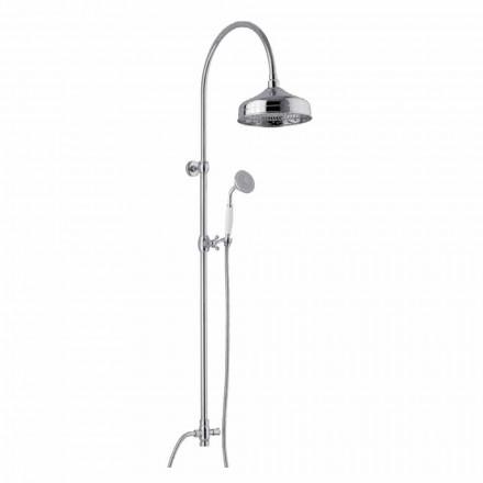 Mosiężna kolumna prysznicowa z głowicą prysznicową i ręcznym prysznicem ABS Made in Italy - Rimo
