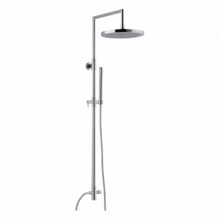 Kolumna prysznicowa z chromowanego mosiądzu z prysznicem ręcznym ABS wyprodukowanym we Włoszech - Selvio
