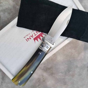 Antyczny nóż rzemieślniczy z rogiem lub drewnianą rączką Made in Italy - Mugello