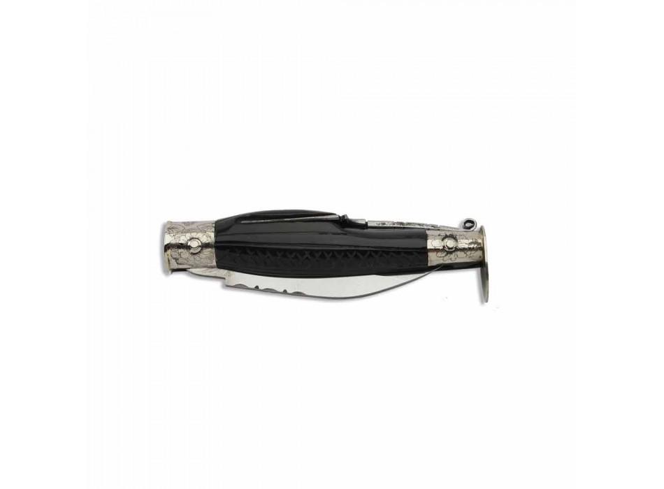 Antyczny nóż kalabryjski z ukrytym widelcem Made in Italy - Bria