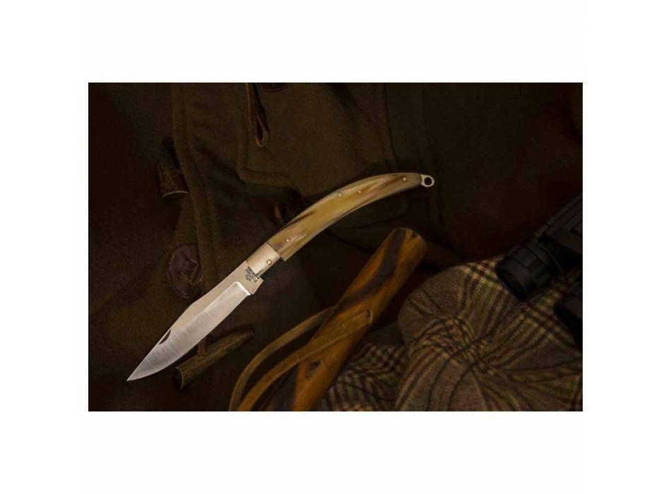 Antyczny, ręcznie robiony nóż myśliwski ze stalowym ostrzem Made in Italy - Afri