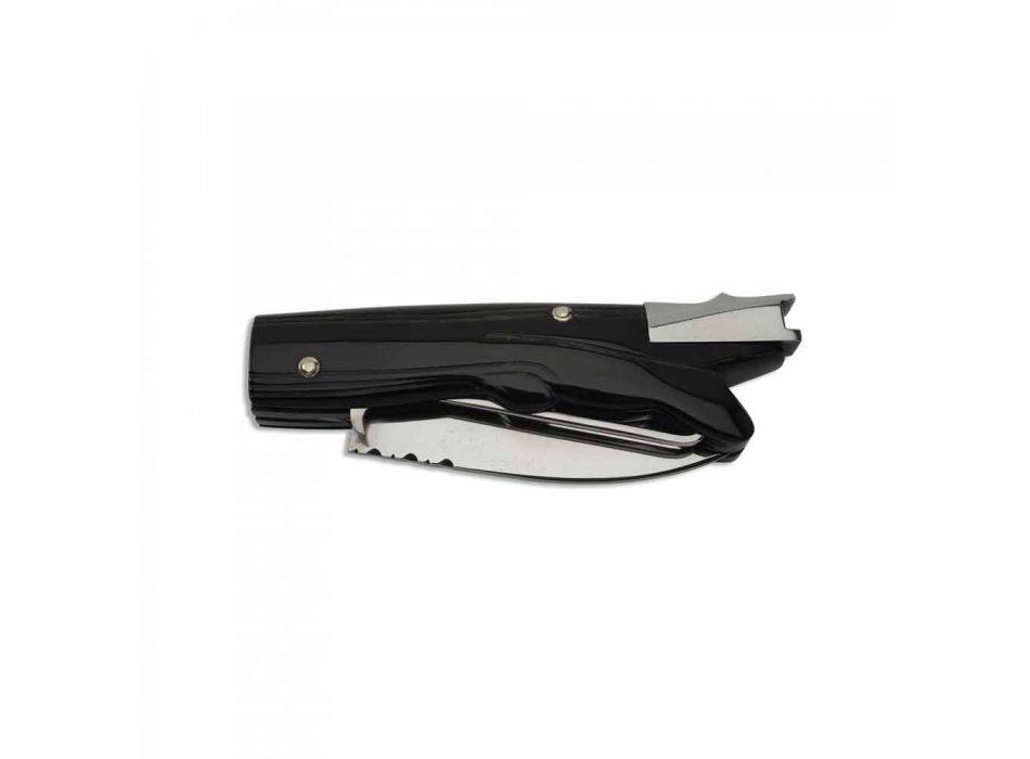 Antyczny nóż myśliwski z rękojeścią z rogu wołowego Made in Italy - Antique