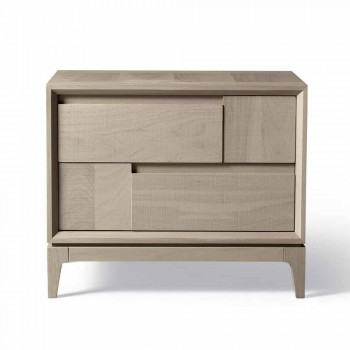 Komody z szufladami Dresser 2 w nowoczesnym stylu z litego drewna orzechowego, Nino