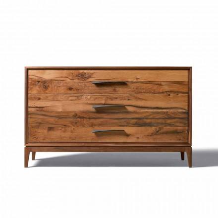 Nowoczesny design kredens 3-szufladowy, W 131 x D 55 x wys. 80 cm, Sandro