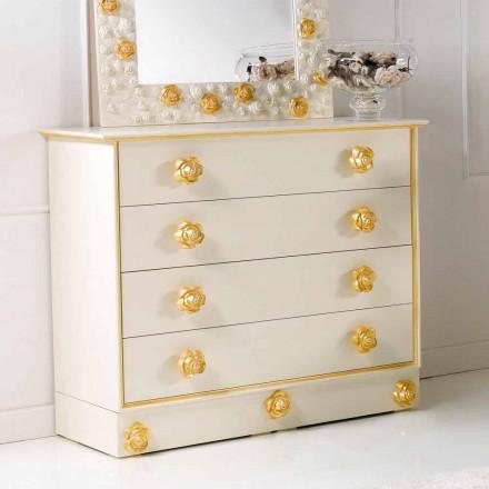 Komoda 4 szuflady z drewna model Renoir