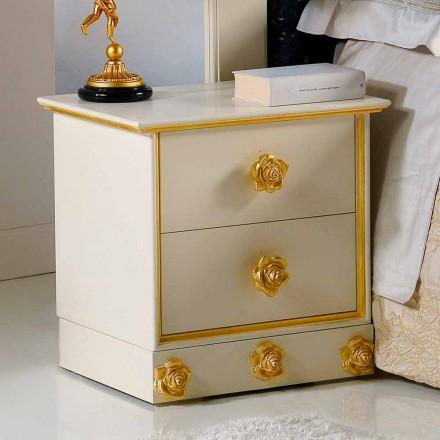 Komoda z 2 szufladami z drewna model Renoir
