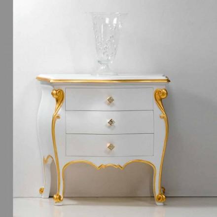 Stolik nocny klasyczny ze złota Bio, made in Itraly