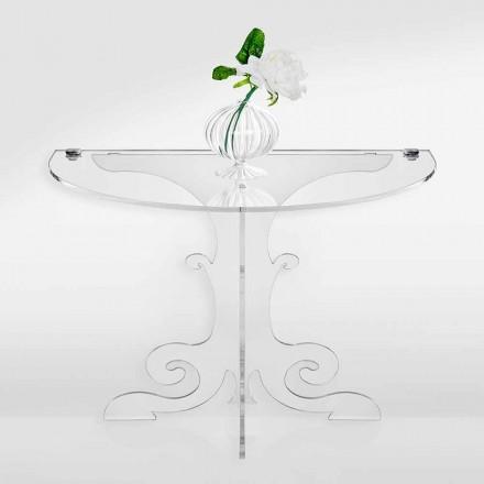 Klasyczny stolik nocny w akrylowym krysztale i PMMA, Tiana