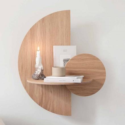 Designerski stolik nocny składający się z 3 paneli modułowych z dębu - sklejka Ramia