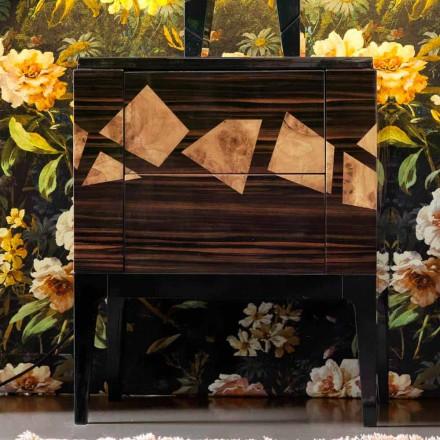 Stolik nocny z drewna orzechowego i hebanowego Grilli Zarafa, design