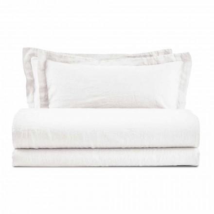 Zestaw kolorowych prześcieradeł czystego lnu do łóżka podwójnego - Opulence