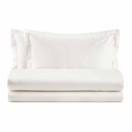 Elegancki komplet do łóżka podwójnego z kolorowej bawełny satynowej - Violetta