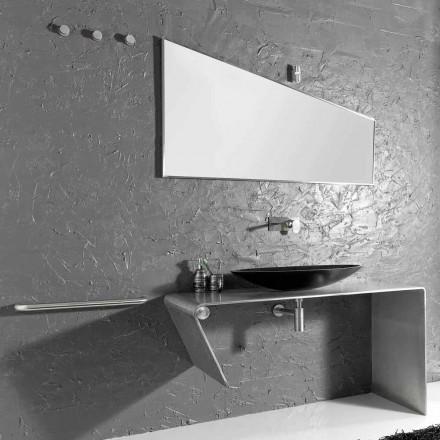 Nowoczesne meble łazienkowe nablatowe wykonane we Włoszech Luisa