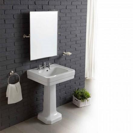 Kompozycja łazienkowa umywalka stojąca z białej ceramiki Ania