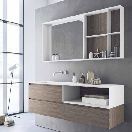 Kompozycja mebli łazienkowych, nowoczesny i podwieszany projekt Made in Italy - Callisi8