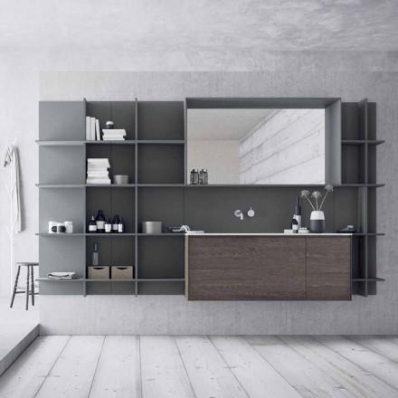Podwieszana i nowoczesna kompozycja mebli łazienkowych, meble designerskie - Callisi12